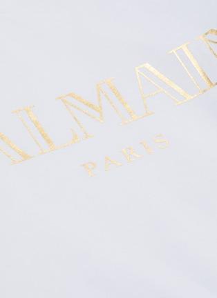 - BALMAIN - 拼色品牌名称纯棉T恤