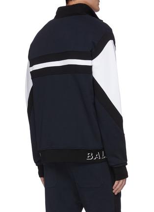背面 - 点击放大 - BALMAIN - 拼色品牌名称纯棉夹克