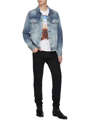 模特儿示范图 - 点击放大 - BALMAIN - 宇航员埃菲尔铁塔图案纯棉T恤