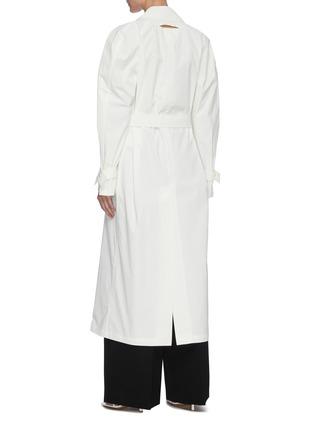 背面 - 点击放大 - BOTTEGA VENETA - 三角形扣饰腰带oversize纯棉大衣