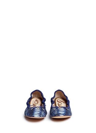 正面 -点击放大 - SAM EDELMAN - FELICIA拼色印花芭蕾鞋