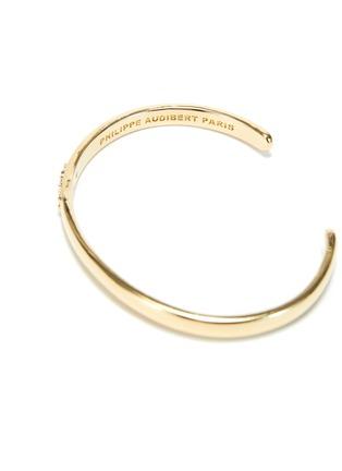 细节 - 点击放大 - PHILIPPE AUDIBERT - BETTY锆石点缀镀金黄铜开口手镯
