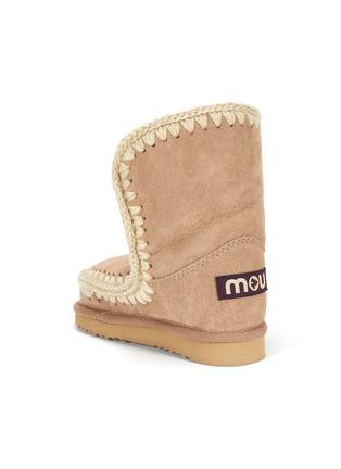 细节 - 点击放大 - MOU - Eskimo儿童款钩织围边绒面真皮短靴