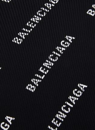 - BALENCIAGA - 斜logo罗纹针织衫