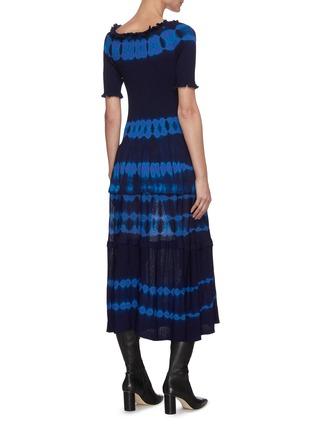 背面 - 点击放大 - ALTUZARRA - AYAKA抽象图案褶裥针织连衣裙