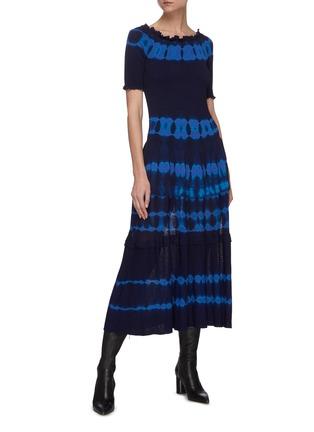 模特儿示范图 - 点击放大 - ALTUZARRA - AYAKA抽象图案褶裥针织连衣裙