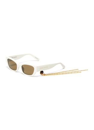 首图 - 点击放大 - Magda Butrym - x Linda Farrow仿水晶链条点缀板材猫眼太阳眼镜