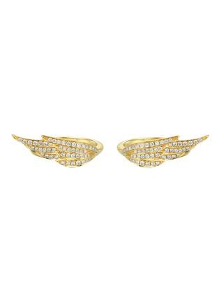 首图 - 点击放大 - SARAH ZHUANG - 钻石18K金单翼造型戒指