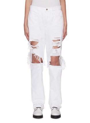 首图 - 点击放大 - FRAME DENIM - LE HOLLYWOOD磨破纯棉牛仔裤
