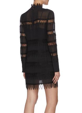 背面 - 点击放大 - FRAME DENIM - NORA拼接蕾丝条纹连衣裙