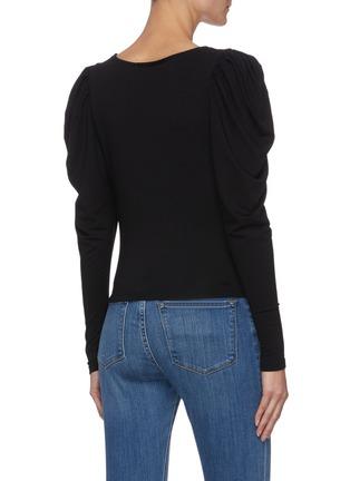 背面 - 点击放大 - FRAME DENIM - AGNES V领褶裥羊腿袖针织衫