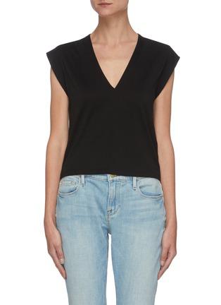首图 - 点击放大 - FRAME DENIM - LE HIGH RISE V领有机皮马棉T恤