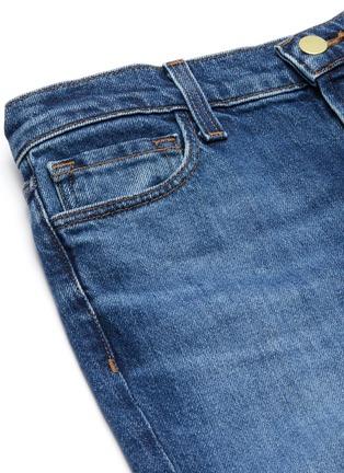 - J BRAND - VALENTINA喇叭裤腿水洗混棉牛仔裤