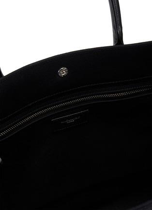 细节 - 点击放大 - SAINT LAURENT - RIVE GAUCHE logo帆布托特包