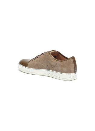 - LANVIN - 漆皮拼接绒面小牛皮运动鞋
