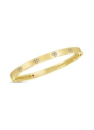 首图 - 点击放大 - ROBERTO COIN - LOVE IN VERONA钻石红宝石18k金花卉手镯