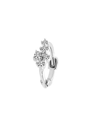细节 –点击放大 - GENTLE DIAMONDS - MIKI培育钻石9k白金单只耳环