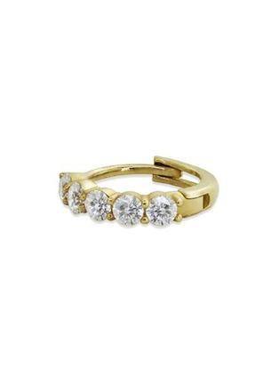 细节 –点击放大 - GENTLE DIAMONDS - CELIA培育钻石9k金圆环单只耳环