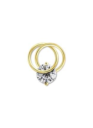 首图 - 点击放大 - GENTLE DIAMONDS - CRESSIDA培育钻石9k金单只耳环