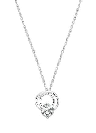 首图 - 点击放大 - GENTLE DIAMONDS - Cressida培育钻石9k白金吊坠项链