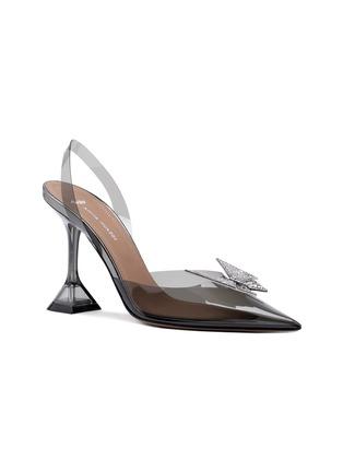 首图 - 点击放大 - AMINA MUADDI - X AWGE PHOENIX仿水晶点缀几何鞋跟PVC露跟鞋