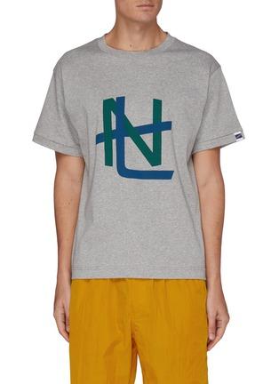 首图 - 点击放大 - NANAMICA - 拼色抽象图案纯棉T恤