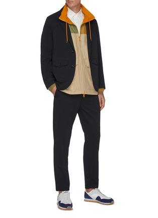 模特儿示范图 - 点击放大 - NANAMICA - 翻盖口袋西服外套
