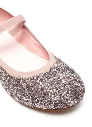 细节 - 点击放大 - WiNK - SODA POP儿童款蝴蝶结闪粉平底鞋