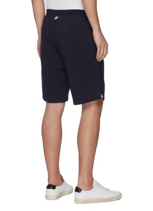 背面 - 点击放大 - THOM BROWNE - 拼色条纹抽绳纯棉短裤