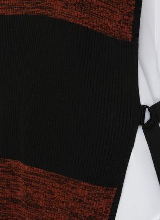 细节 - 点击放大 - PETAR PETROV - Nais拼色高领搭带真丝无袖针织上衣