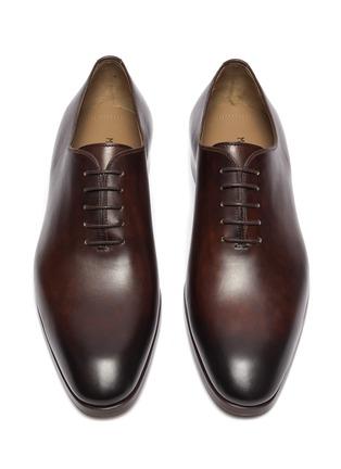 细节 - 点击放大 - MAGNANNI - FLEX WHOLECUT系带真皮牛津鞋