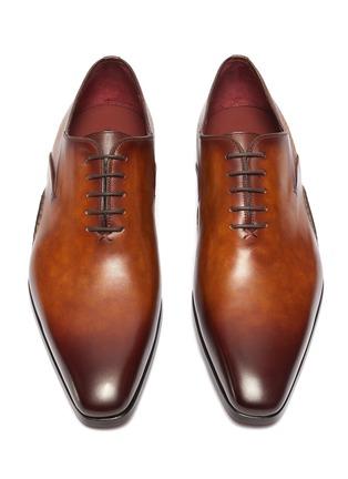 细节 - 点击放大 - MAGNANNI - OPANCA WHOLECUT拼接设计真皮牛津鞋