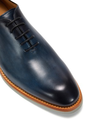 细节 - 点击放大 - MAGNANNI - 圆头系带真皮鞋