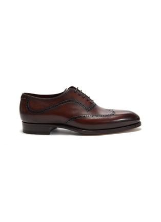 首图 - 点击放大 - MAGNANNI - 雕花真皮牛津鞋
