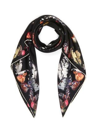 首图 - 点击放大 - ALEXANDER MCQUEEN - 品牌名称蝴蝶图案围巾