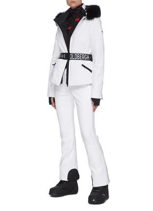 模特儿示范图 - 点击放大 - GOLDBERGH - HIDA狐毛边饰腰带羽绒功能连帽夹克