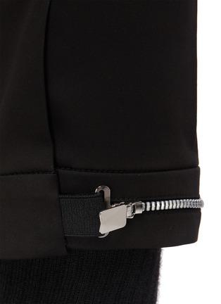 - NEIL BARRETT - 拉链裤脚口混棉及莫代尔长裤