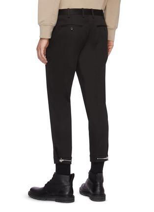 背面 - 点击放大 - NEIL BARRETT - 拉链裤脚口混棉及莫代尔长裤