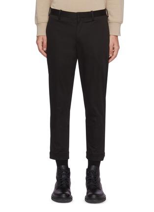 首图 - 点击放大 - NEIL BARRETT - 拉链裤脚口混棉及莫代尔长裤