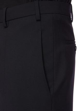 - NEIL BARRETT - 低腰修身混初剪羊毛长裤