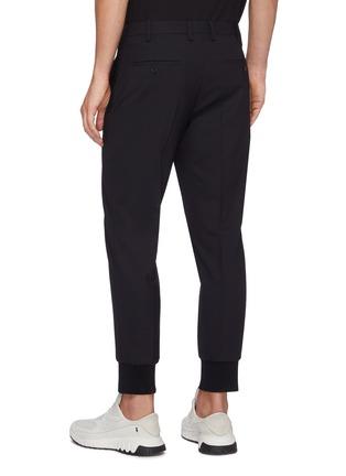 背面 - 点击放大 - NEIL BARRETT - 低腰修身混初剪羊毛长裤