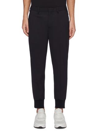 首图 - 点击放大 - NEIL BARRETT - 低腰修身混初剪羊毛长裤