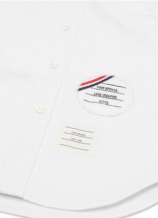 细节 –点击放大 - THOM BROWNE - x Lane Crawford品牌名称拼贴纯棉衬衫