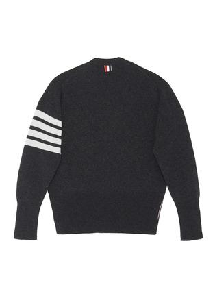 背面 –点击放大 - THOM BROWNE - x Lane Crawford四重条纹羊绒针织开衫