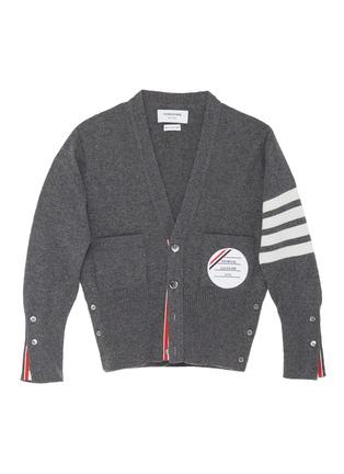 首图 –点击放大 - THOM BROWNE - x Lane Crawford四重条纹羊绒针织开衫