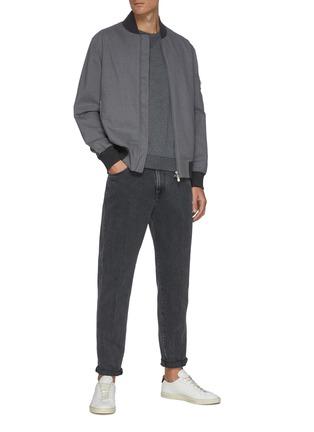 模特儿示范图 - 点击放大 - BRUNELLO CUCINELLI - 水洗修身纯棉牛仔裤