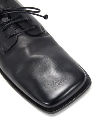 细节 - 点击放大 - MARSÈLL - 方头系带真皮德比鞋