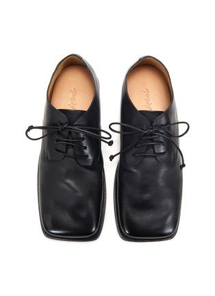 模特儿示范图 - 点击放大 - MARSÈLL - 方头系带真皮德比鞋