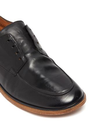 细节 - 点击放大 - ANTONIO MAURIZI - TODI系带真皮德比鞋