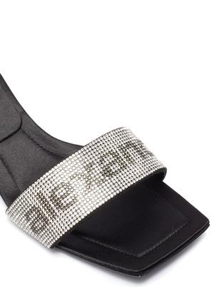 细节 - 点击放大 - ALEXANDERWANG - JESSIE仿水晶logo搭带高跟凉鞋